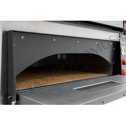 Dettaglio forno elettrico per 6+6 pizze di diametro 35 cm con 2 camere orizzontali a controllo meccanico