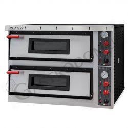 Forno elettrico per 9+9 pizze di diametro 35 cm con 2 camere a controllo meccanico