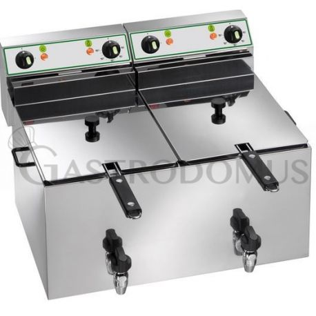 Friggitrice elettrica 10+10 Lt. doppia vasca