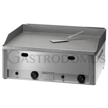 Fry top a gas da banco - piastra liscia doppia in acciaio sabbiato - potenza 8000 W