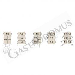 Cuocipasta a gas su mobile chiuso - 1 vasca - capacità 40 LT- combinazione cestelli