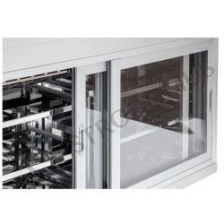 Dettaglio pensile refrigerato con porte scorrevoli L1500 mm x P 550 mm x H 1070 mm