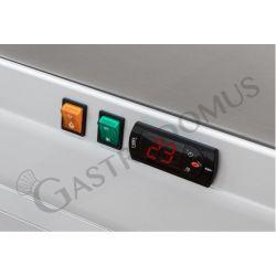 Dettaglio termostato pensile refrigerato con porte scorrevoli L1500 mm x P 550 mm x H 1070 mm