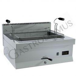 Friggitrice elettrica per pasticceria da banco con 1 vasca di capacità 15 litri