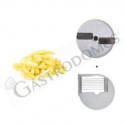 Combinazione 2 dischi per patatine fritte di dimensioni 10 mm