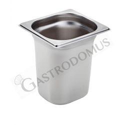 Bacinella in acciaio inox GN 1/6 H 200 mm - capacità 3,5 litri