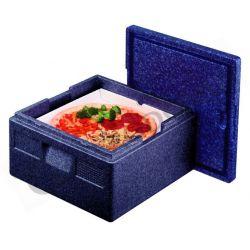 Contenitore isotermico in polipropilene per bacinelle Gastronorm per trasporto pizza - per 4 unità - capacità 21 litri
