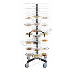 Colonna portapiatti per 48 piatti di diametro 18/24 cm