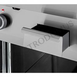 Fry top elettrico su armadio aperto, profondità 700 mm, piastra liscia singola trifase potenza 4500 W