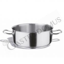 Casseruola bassa in acciaio inox, diametro 18 cm e altezza 8 cm