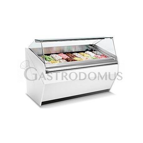 Vetrina gelato ventilata 10 o 16 vaschette L. 1500 mm