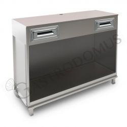 Banco bar per macchina caffè con top grezzo - L 1500 mm x P 550 mm x H 1130 mm
