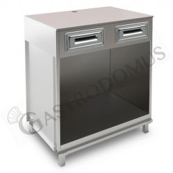 Bancone bar per macchina caffè con top grezzo - L 1000 mm x P 670 mm x H 1130 mm