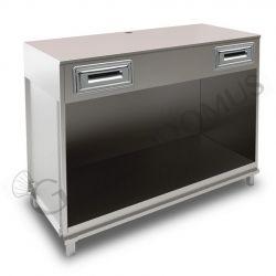 Bancone bar per macchina caffè con top grezzo - L 1500 mm x P 670 mm x H 1130 mm