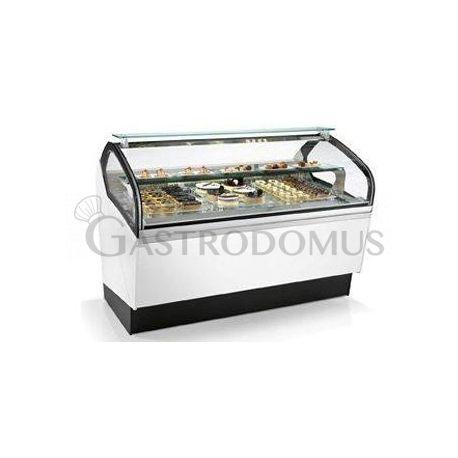 Vetrina refrigerata ventilata orizzontale per pasticcieria L 1125 mm