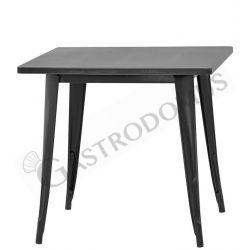Tavolo da interno in metallo verniciato effetto anticato L 80 cm