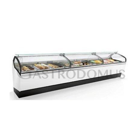 Vetrina refrigerata ventilata orizzontale per pasticceria L 2125 mm