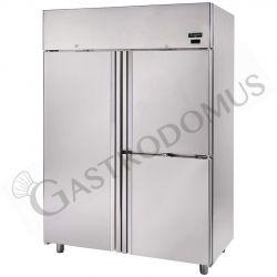 Frigo 1400 litri in acciaio inox ventilato con 3 porte, temperatura -2°C/+10°C per verdure