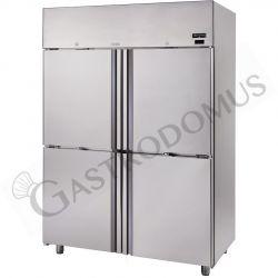 Frigo 1400 litri in acciaio inox ventilato con 4 porte, temperatura -2°C/+10°C per verdure