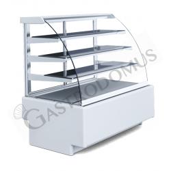 Vetrina espositiva ventilata Gmax per pasticceria 3 ripiani, Temp +5°/+15°C, L 1400 mm