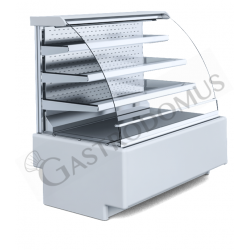 Murale espositivo ventilato Gmax open con 3 ripiani, Temp +8°/+15°C, L 1000 mm