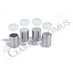 Dosatore di spezie, fori 1 mm, diametro 7 cm e altezza 9,6 cm