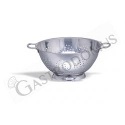 Colapasta conico con base in acciaio inox, diametro 24 cm e altezza 11 cm