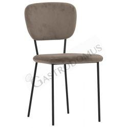 Sedia Aicha con struttura in metallo verniciato e rivestimento in velluto