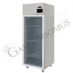 Armadio refrigerato ventilato capacità 700 LT e temperatura -2°C/+10°C con porta vetro