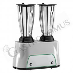 Frullatore 2 bicchieri in acciaio inox - potenza 350 + 350 W - capacità 1,5 + 1,5 LT