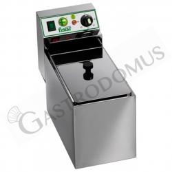 Friggitrice elettrica da banco - 1 vasca - capacità 8 LT - 3000 W - Monofase