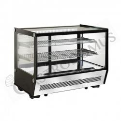 Espositore refrigerato da banco ventilato - capacità 160 LT - luce interna a LED