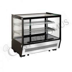 Espositore refrigerato da banco ventilato - capacità 120 LT - luce interna a LED