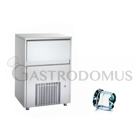 Produttore di ghiaccio monofase kg 80/24h cubetto pieno