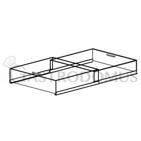 Copertura in Plexiglas, con scorrevoli, per vasca refrigerata