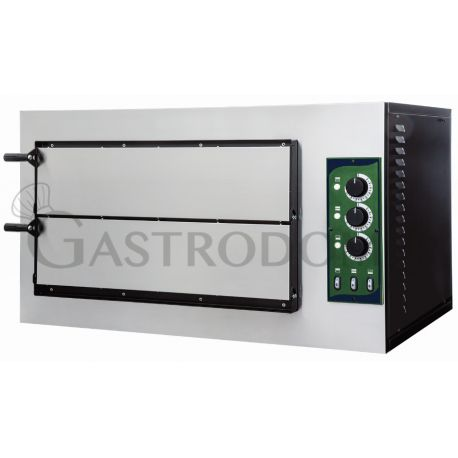 Forno 2 pizze diametro 32 cm - 2 camere - temperatura 500°C - controllo meccanico
