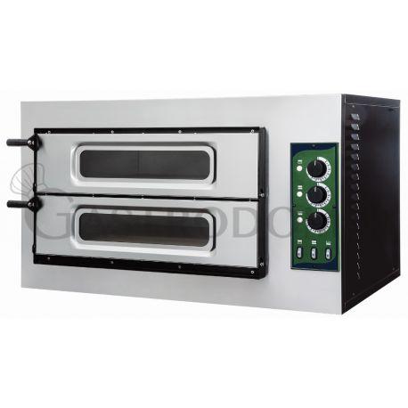 Forno 2 pizze diam. 32 cm - porta vetro - temperatura 500°C - controllo meccanico