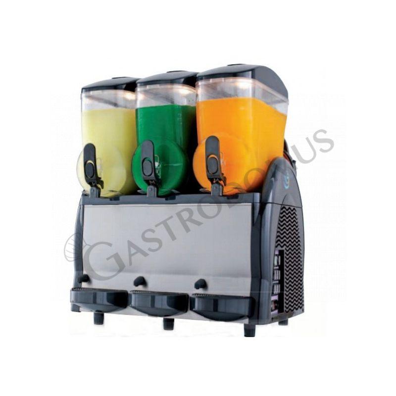 Macchina per granite e sorbetto push & pull con 3 vasche - capacità 12 + 12 + 12 LT - potenza 900 W