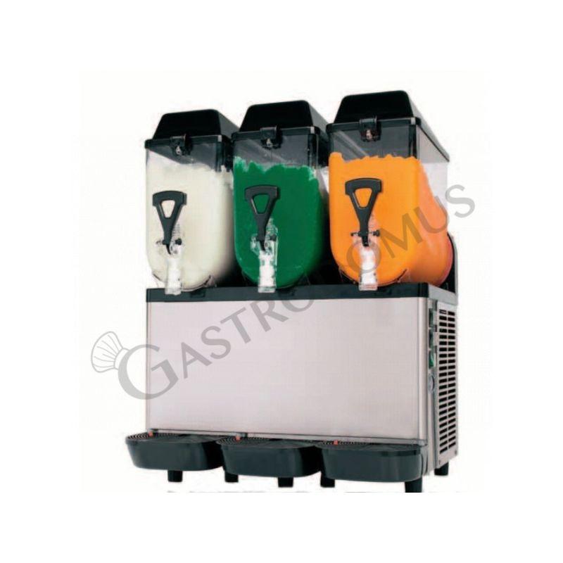 Macchina per granite e sorbetto con 3 vasche - capacità 10 + 10 + 10 LT - potenza 900 W