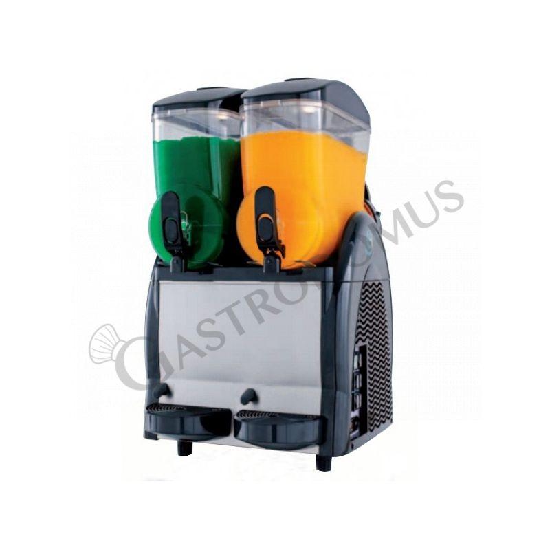 Macchina per le granite e per il sorbetto push & pull con 2 vasche - capacità 12 + 12 LT - potenza 650 W