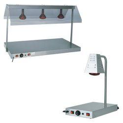 Piano caldo inox con lampada a raggi infrarossi