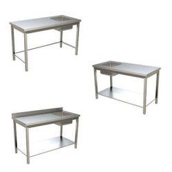 Tavolo di preparazione con lavello