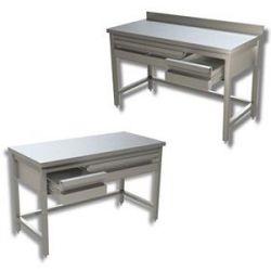 Tavoli in inox con cassetti