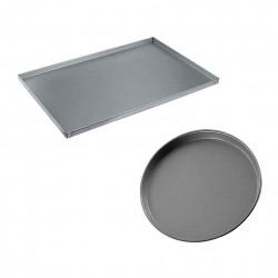 Teglie Per Pizza In Alluminio, Acciaio, Rotonde O Rettangolari