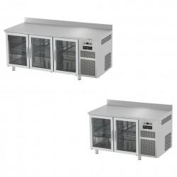 Tavoli Refrigerati Gastronomia con Porte in Vetro