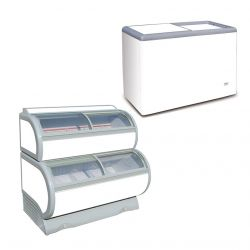 Congelatori a pozzetto per gelateria